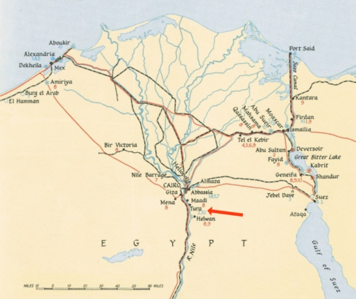 Map Showing Tura
