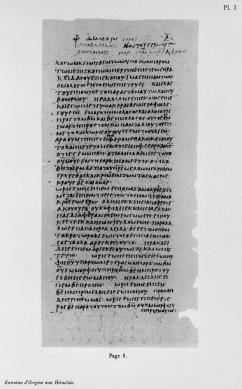 Tura Codex I Origen Heraclides Page 1