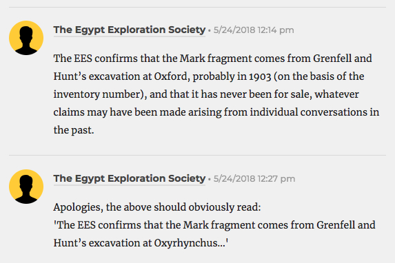 EES on Mark fragment