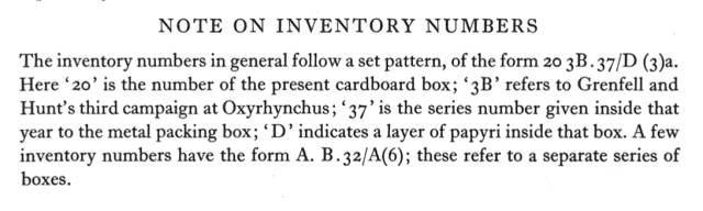 POxy 44 Explanation of Inventory Numbers