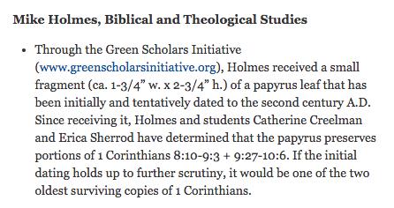 Holmes 1 Corinthians