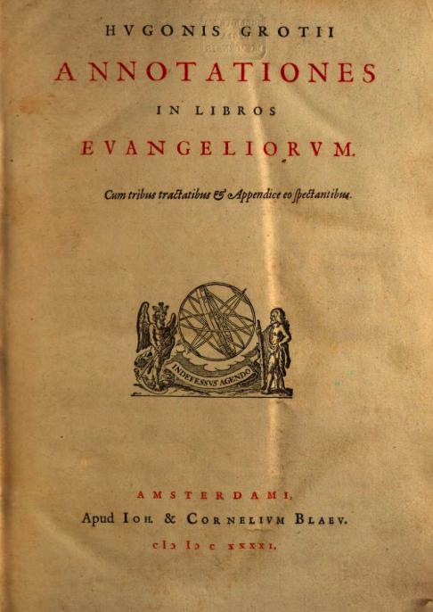 Grotius Annotationes 1641