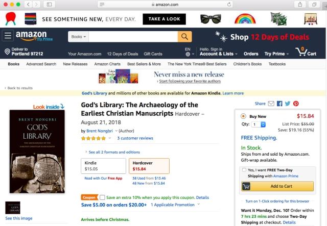 Amazon God's Library Sale