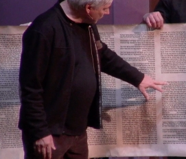 carroll and torah scroll