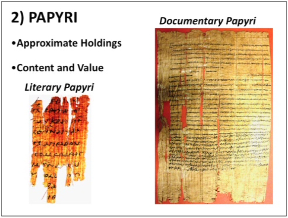 green collection genesis papyrus