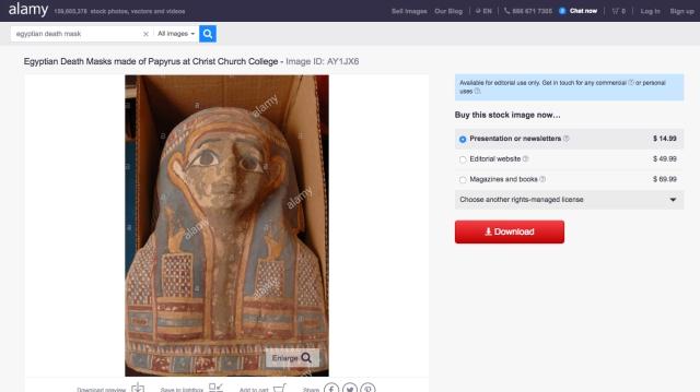 stock image mummy mask christ church oxford
