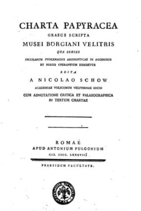 Schow Charta