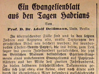 Deissmann P52 Headline